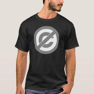 Símbolo de Anti-Copyright do dominio público Tshirts