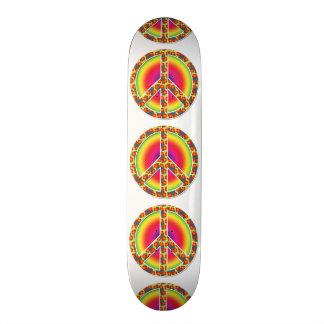 Símbolo de paz floral skate