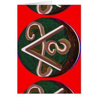 Símbolo de SHANTI para amantes da paz Cartão