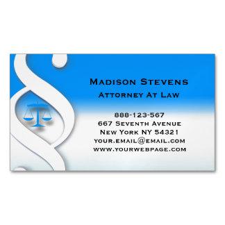 Símbolo do advogado do advogado do advogado cartão de visitas magnético