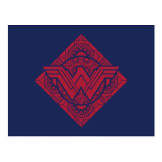 Símbolo do Amazonas da mulher maravilha Cartão Postal