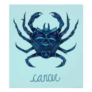 Símbolo do cancer posteres