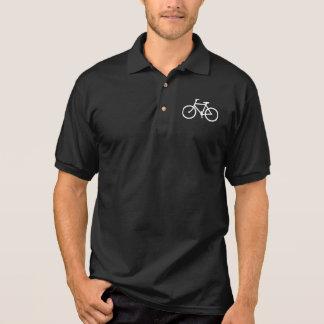Símbolo do ciclismo da bicicleta do ciclo do sinal t-shirt polo
