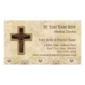 Símbolo do cristão do médico prática do médico cartão de visita