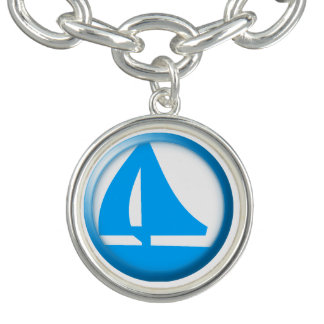 Símbolo do porto - veleiro braceletes com charm