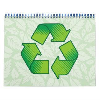Símbolo do reciclagem calendário