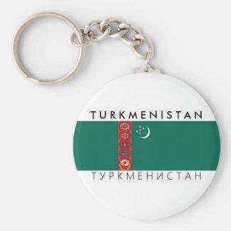 símbolo do texto do nome da bandeira de país de chaveiro
