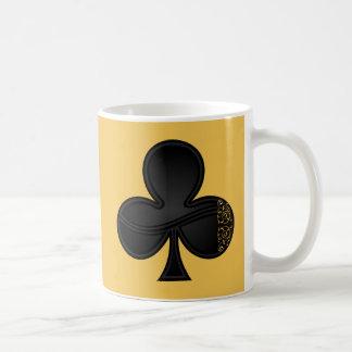 Símbolo dos clubes para tubarões e jogador de caneca de café