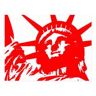 Símbolo dos EUA do pop art da estátua da liberdade Cartão Postal