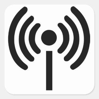 Símbolo dos Wi Fi Adesivo Quadrado