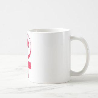 Símbolo islâmico do feminismo caneca de café