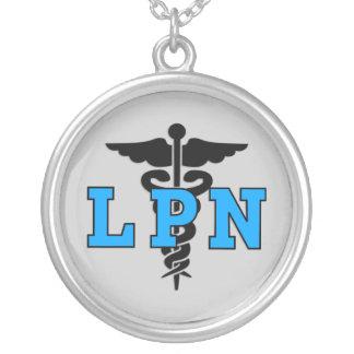 Símbolo médico de LPN Colar Com Pendente Redondo