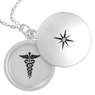 Símbolo médico de nutrição colar medalhão