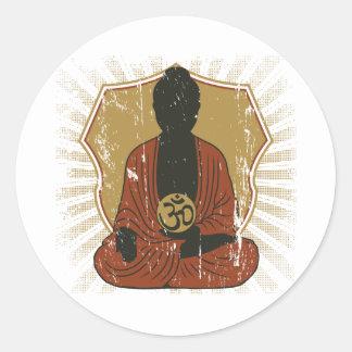Símbolo Meditating de Buddha OM Adesivo