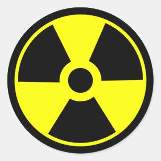 Símbolo radioativo do símbolo da radiação nuclear adesivo
