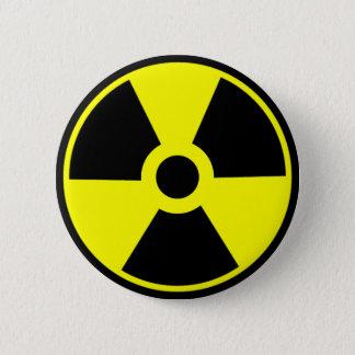 Símbolo radioativo do símbolo da radiação nuclear bóton redondo 5.08cm