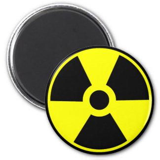 Símbolo radioativo do símbolo da radiação nuclear ímã redondo 5.08cm