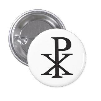 Símbolo religioso da cristandade bóton redondo 2.54cm