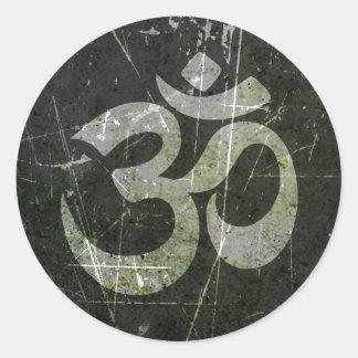 Símbolo riscado e vestido do OM da ioga Adesivo