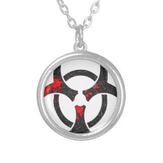 Símbolo sangrento do Biohazard Colar Personalizado