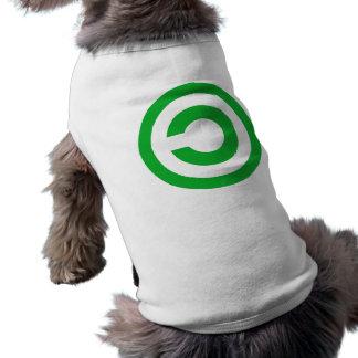 Símbolo verde do dominio público de Anti-Copyright Roupas Para Pets