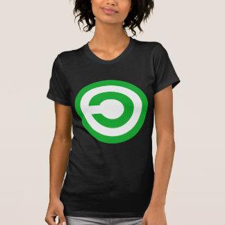 Símbolo verde do dominio público de Anti-Copyright Camisetas