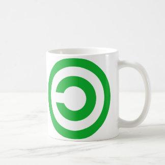 Símbolo verde do dominio público de Anti-Copyright Caneca De Café