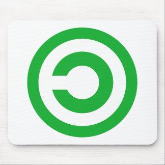 Símbolo verde do dominio público de Anti-Copyright Mouse Pad