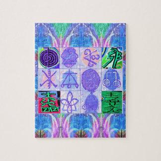 Símbolos de KARUNA Reiki: Rendição artística Quebra-cabeça
