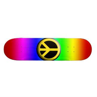 Símbolos de paz coloridos shape de skate 18,4cm