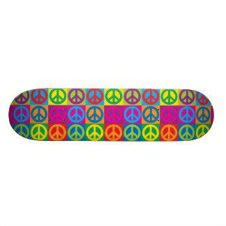 Símbolos de paz do pop art shape de skate 18,7cm
