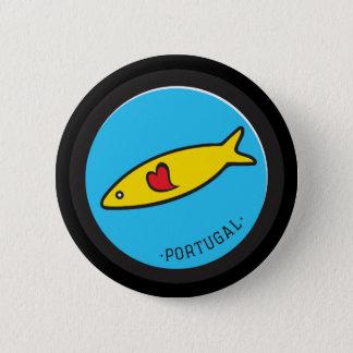 Símbolos de Portugal - sardinha Nr. 02 Bóton Redondo 5.08cm