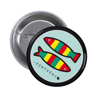 Símbolos de Portugal - sardinhas Bóton Redondo 5.08cm