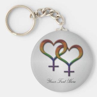 Símbolos fêmeas do género do arco-íris chaveiro