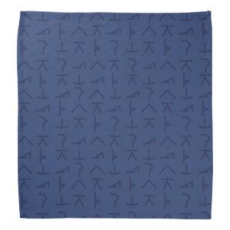 Símbolos modernos da ioga - azul - Bandana