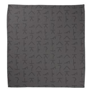 Símbolos modernos da ioga - preto - Bandana