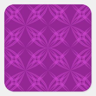Simetria da flor adesivo quadrado
