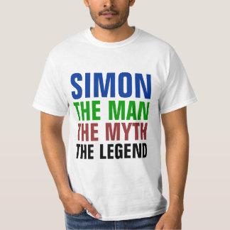 Simon o homem, o mito, a legenda camisetas