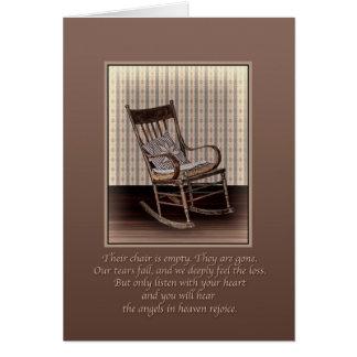 Simpatia, cadeira de balanço vazia, religiosa cartoes