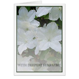 Simpatia da azálea cartão comemorativo