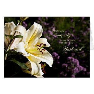 Simpatia na morte de um marido cartão comemorativo