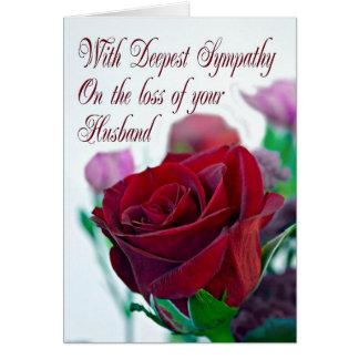 Simpatia na perda de marido, com uma rosa vermelha cartão