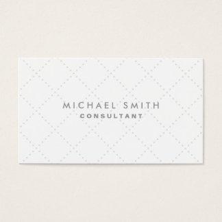 Simples branco elegante profissional do teste cartão de visitas