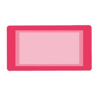 simples cor-de-rosa etiqueta de frete
