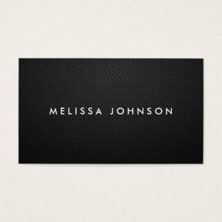 Simples liso preto moderno elegante profissional cartão de visitas