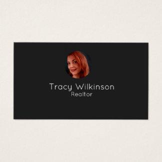 Simples, moderno, cartão de visita da foto