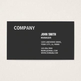 Simples moderno elegante preto liso profissional cartão de visitas