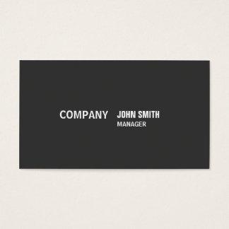 Simples preto moderno elegante liso profissional cartão de visitas