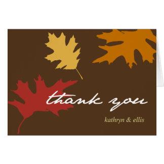 Simplesmente obrigado que personalizado folhas da  cartao