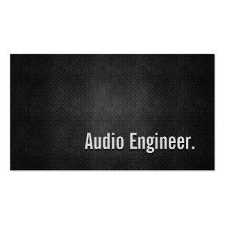 Simplicidade preta legal do metal do engenheiro cartão de visita